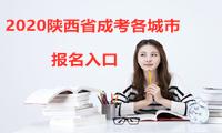 2020陕西成人高考城市报名入口